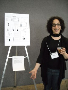 Sarah Leavitt with art at Comics and Medicine 2011