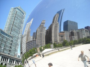 Cloud Gate by Anish Kapoor, Chicago, photo by Sarah Leavitt