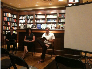 Julie Wilson, me, Andrew Westoll at Ben McNally Books, Toronto