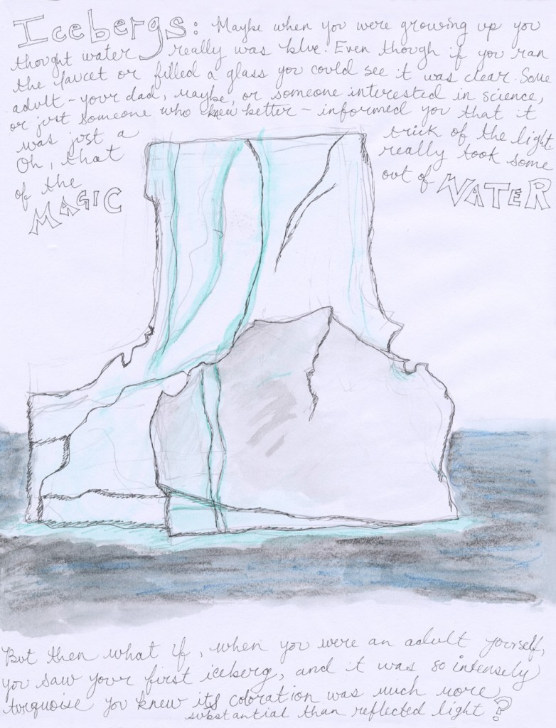 Icebergs, drawing by Sarah Leavitt