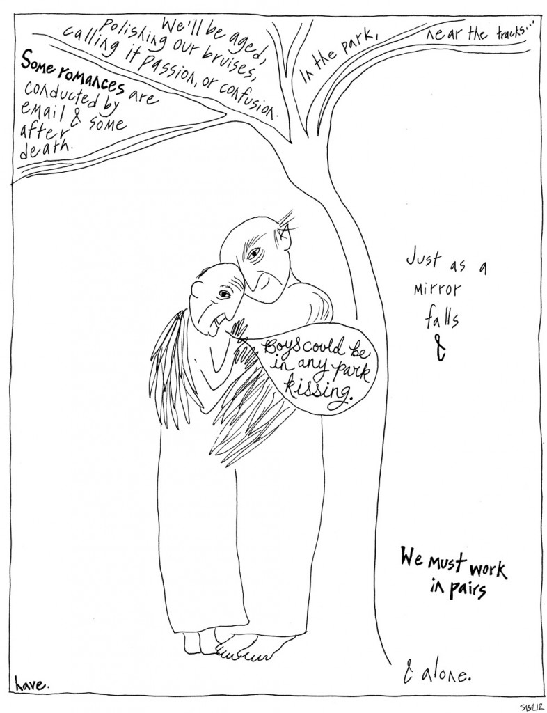 One Virtue by Jen Currin, illustrated by Sarah Leavitt, page 2 of 2