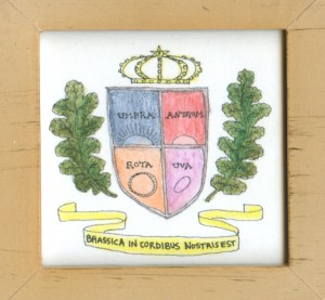 Guinea pig coat of arms by Sarah Leavitt