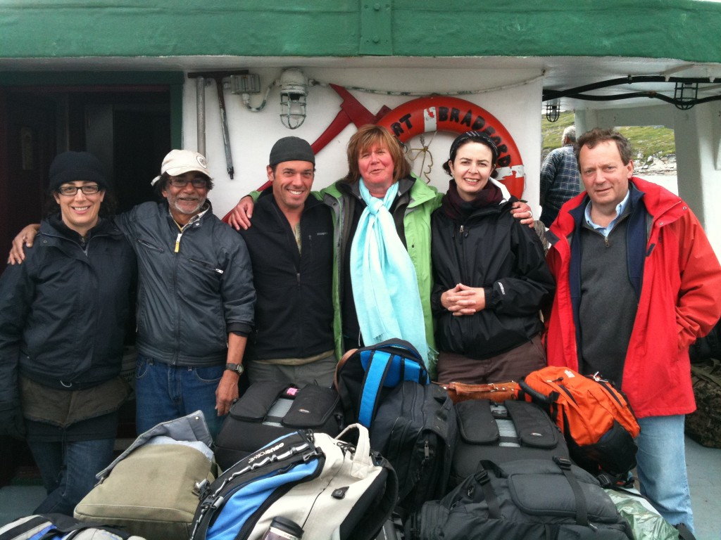 Northwords writers after a week in Torngat Mountains National Park: me, Rabindranath Maharaj, Joseph Boyden, Shelagh Rogers, Alissa York and Noah Richler