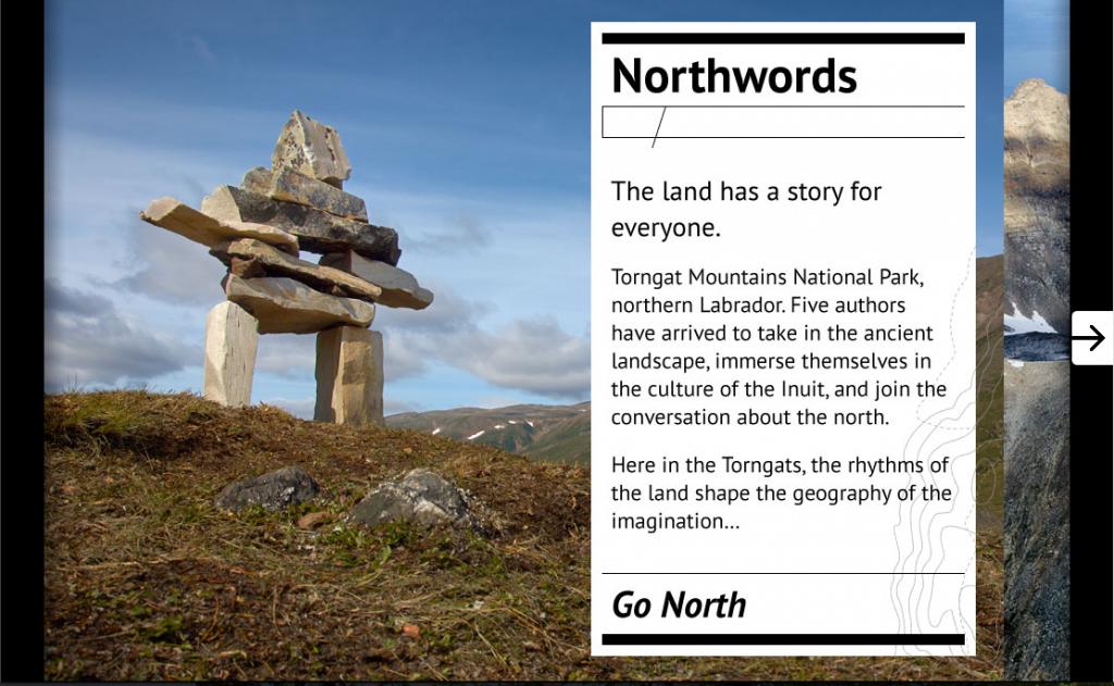 Northwordscanada.ca interactive site